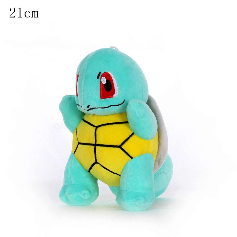 1pcs 21cm Squirtle Plush Toys Doll Kawaii Squirtle Piush Pendant Soft Stuffed Peluches Toys Gifts For Kids