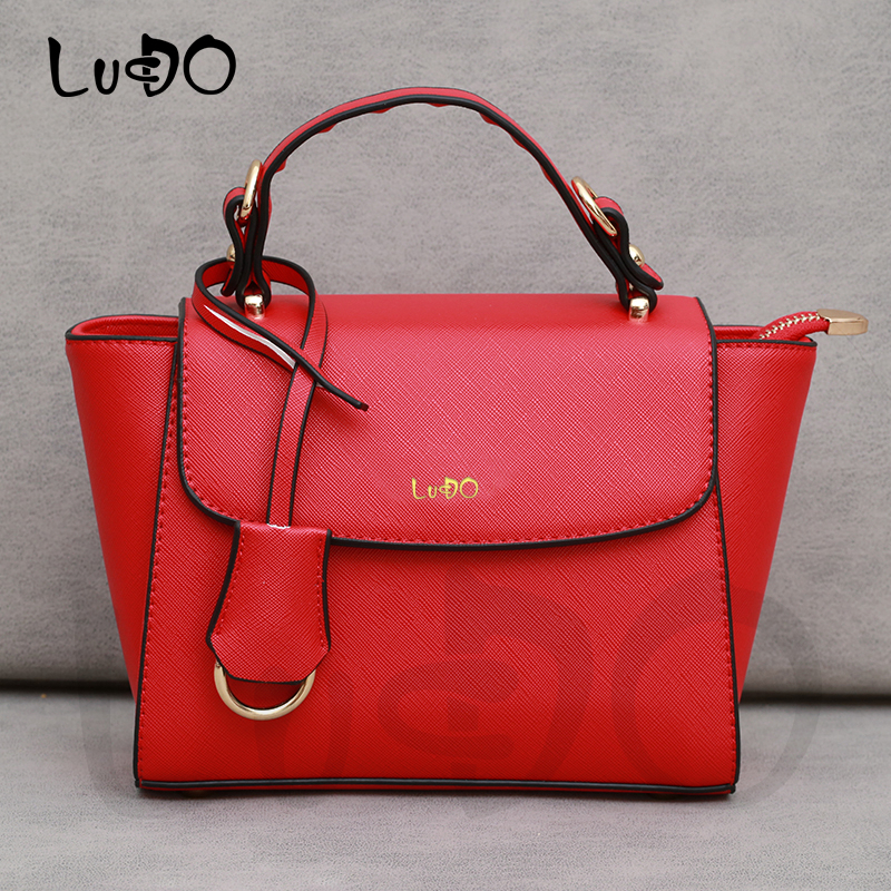 LUCDO Brand Luxury Handbag For Women 2020 Fashion Vintage High Quality Leather Tassel Totes Bag Small Shoulder Messenger Bag Sac