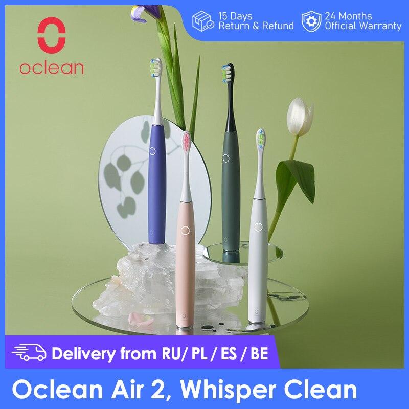 2020 neue Ankunft Oclean Air 2 Sonic Elektrische Zahnbürste Noise reduktion Sanfte Reinigung Zähne Magnetische Schnelle Lade 40 Tage