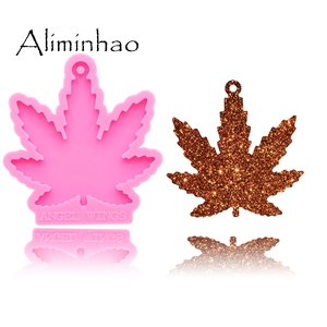 DY0155 Shiny Maple leaf Leaves Silicone Molds For DIY Truck key ring epoxy resin Mold Craft custom keychain(China)