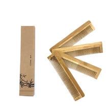Brosse à cheveux en bambou Naturel, 1 pièce, peigne en bois écologique, beauté SPA, massage, vente en gros