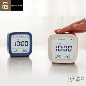 Image 1 - Youpin Qingping Bluetooth Temperatuur Vochtigheid Sensor Nachtlampje Lcd Wekker Voor Mihome App Controle Thermometer