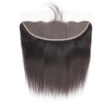 Perruque Lace Frontal Closure naturelle malaisienne Remy, cheveux lisses, HD, 16-24 pouces, pre-plucked, Swiss Lace Frontal Closure transparente
