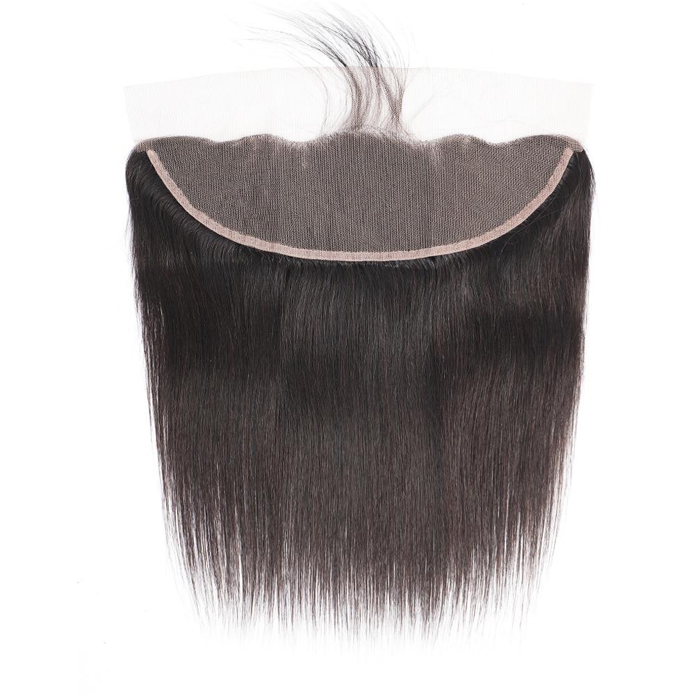Malaio pré-arrancado fechamento frontal transparente do laço 16-24 Polegada instock em linha reta remy hd suíço do cabelo humano do laço frontal