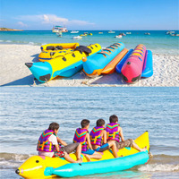 Free Shipping With Air Pump Inflatable Flying Fish Water Sea Games Floating Banana Boat Kayak Inflable Towable Fishing Boat