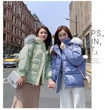 YICIYA Down Coat Winter Oversize Fur Collar Womens Jackets ultra Light women Jacket Hood