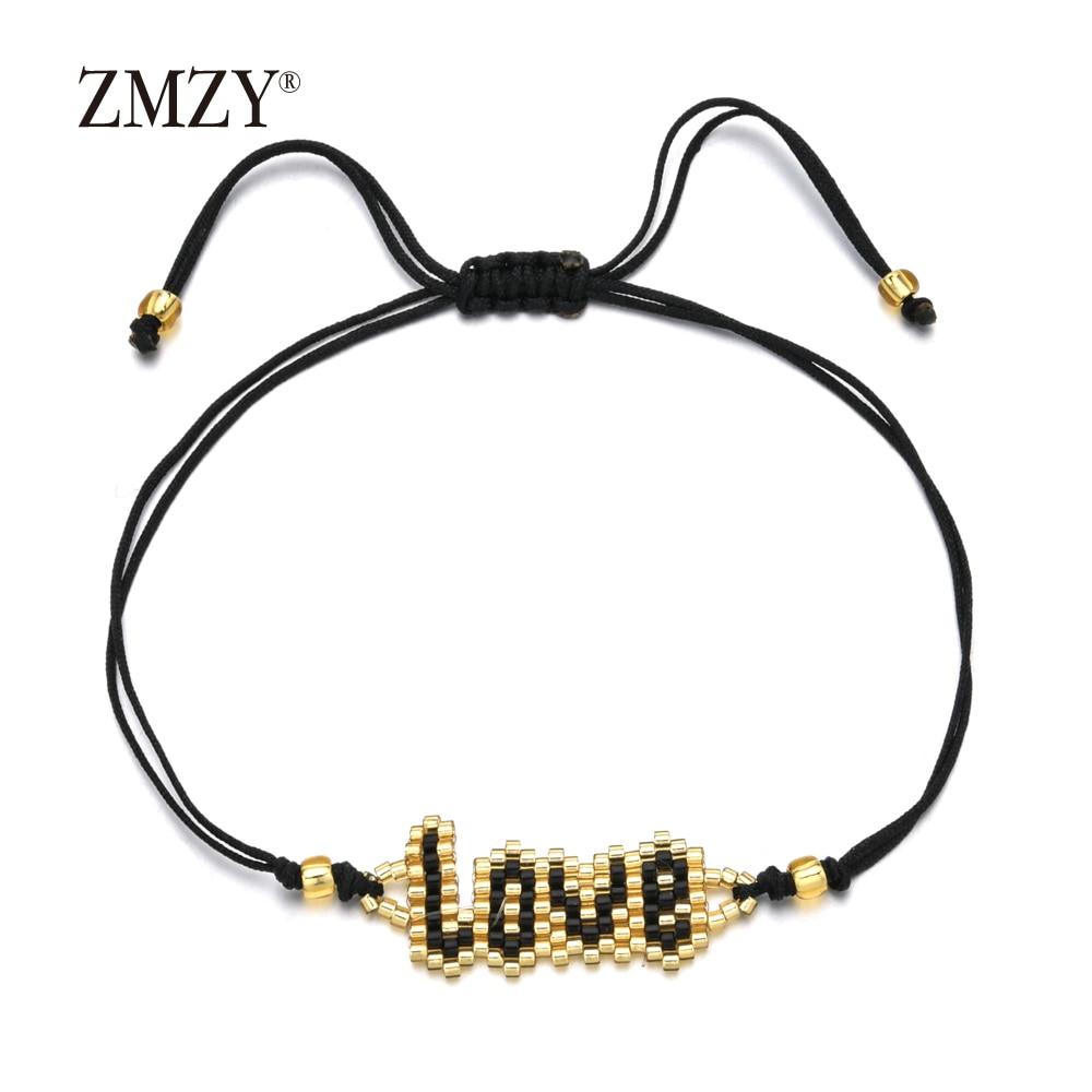 ZMZY-pulsera de cuentas estilo bohemio MIYUKI para Mujer, brazaletes con puño de Mujer, brazaletes de moda de Insta hechos a mano, regalo para parejas