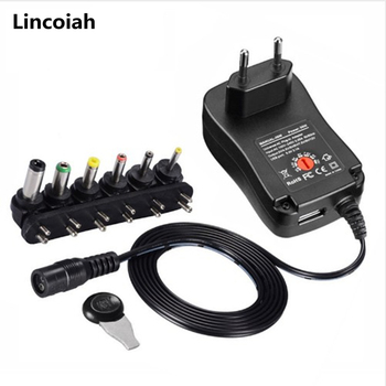 3V 4 5V 5V 6V 7 5V 9V 12V 2A 2 5A AC adapter dc regulowana moc zasilania uniwersalna moc ładowarka do żarówki LED taśmy LED tanie i dobre opinie Lincoiah LJH-186 Przełączania Podłącz