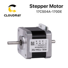 Cloudray nema 17 motor deslizante 40mm 42ncm 1.7a eixo duplo 2 fase do motor deslizante para cnc impressora 3d gravura moagem machin