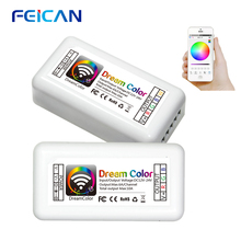 LED Controller 240W WIFI/Bluetooth RGB Controller 12/24V Group Controller for RGB / RGBW LED Strip Bulbs Light