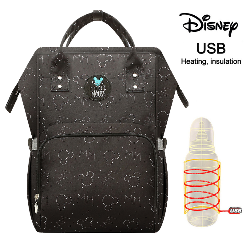 Disney Fashion Mummy Maternity Nappy Bag Large Capacity Nappy Bag Travel Backpack Nursing Bag For Baby Care Women's Fashion Bag