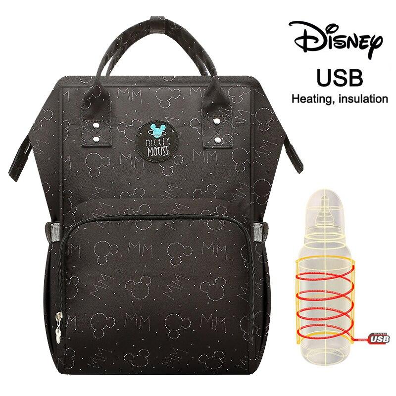 Disney Fashion Mummy Maternity Nappy Bag Large Capacity Nappy Bag Travel Backpack Nursing Bag For Baby Care Women's Fashion Bag