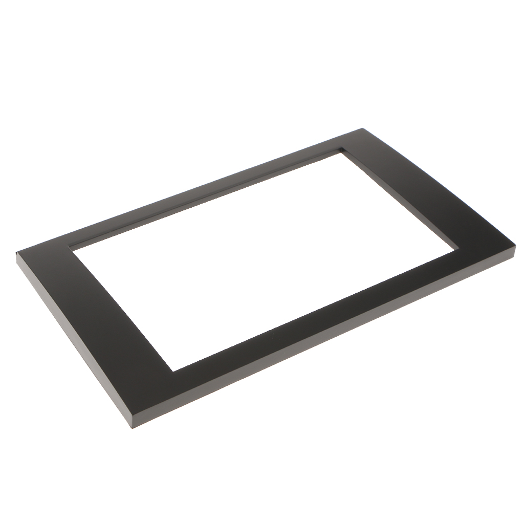 Black Fascias Car DVD Radio Stereo 2 DIN Face Trim Panel Frame Kit For AUDI