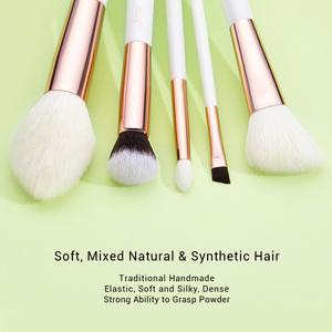 Image 2 - Jessup Brushes 10pcs Professional Makeup Brush Kit Pearl White/Rose Gold Natural Bristle Make up Brush Definer Shader T223
