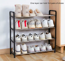 Multi-layer Shoe Rack Aluminum Metal Standing Shoe Rack DIY Shoes Storage Shelf Home Living Room Organizer Accessories(China)