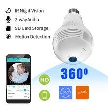 Mini Camera Camera Wifi Toàn Cảnh Bóng Đèn 360 Lampada Thông Minh Espia Máy Quay Video Micro Camera IP Không Dây Bộ Camera Quan Sát Cam