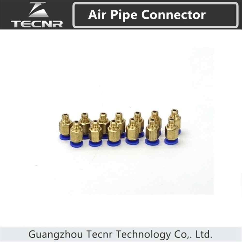 PC Air Pneumatic 4mm M6 ท่อด้ายชาย Air ท่อเชื่อมต่อ Quick Coupling ข้อต่อทองเหลือง