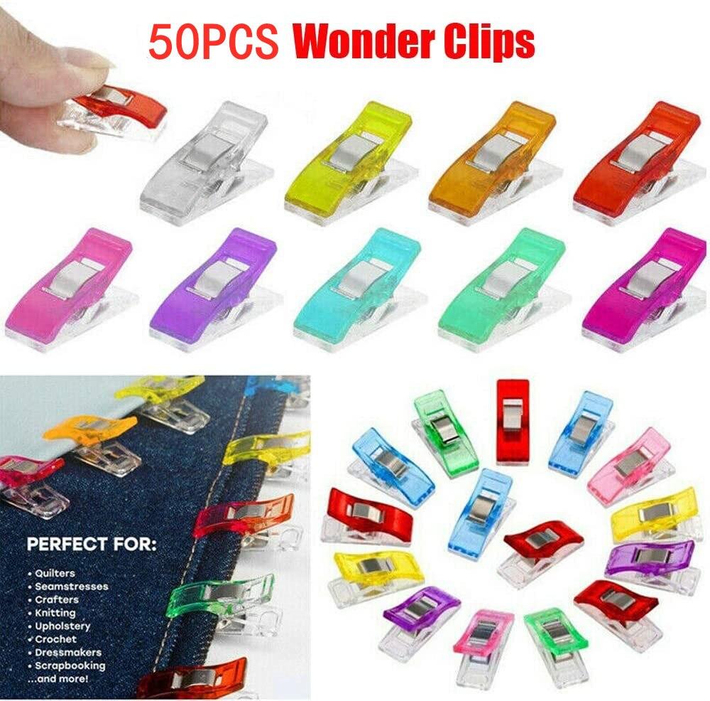10/20/50 clipes de costura dos pces clipes plásticos estofando crafting crocheting tricô clipes de segurança sortidas cores de ligação clipes de papel|Pregadores|   -