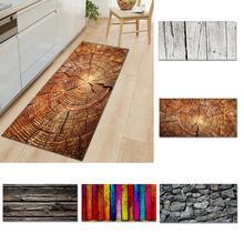 SALE!Kitchen Carpet Mat Wooden Grain Pattern Non-slip Living Room Floor Mat Door Mats Entrance Floor Mat Carpet, 40x60cm symmetrical pattern door mat