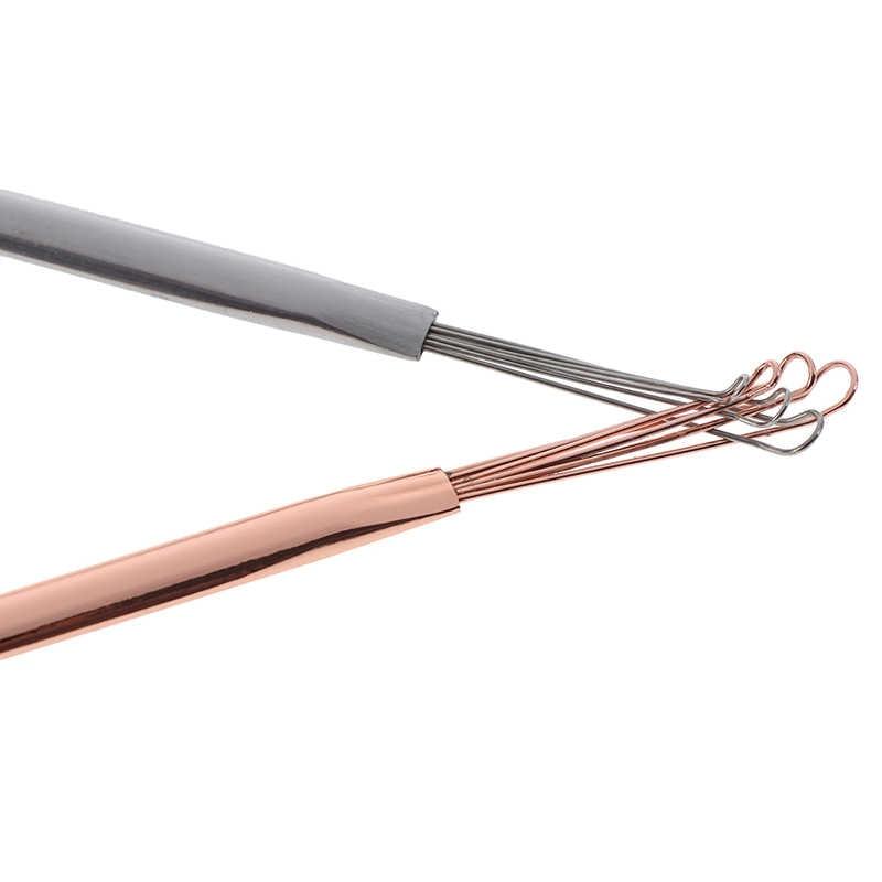 نظافة الأذن نظافة الأذن ملعقة الأذن الرعاية الصحية تنظيف الفولاذ المقاوم للصدأ من خلال أذني نظافة المحمولة حفر الأذن أدوات Curette
