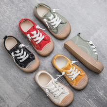 Casual-Shoes Canvas Korean Autumn Girls 1-6-Years-Old Boys Children's New And Solid