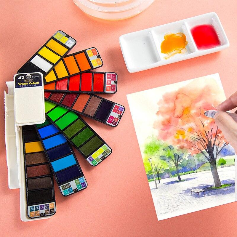 Набор цветных кисточек с красками 18/25/33/42 цветов s, портативная пигментная краска, не для художника, товары для рукоделия