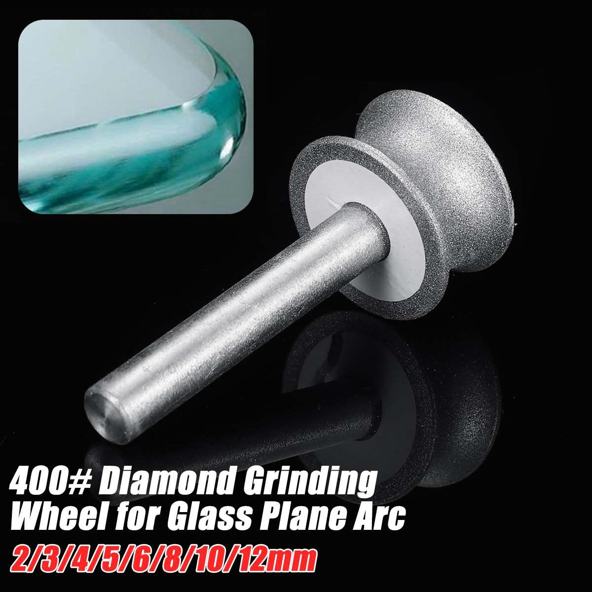 New 3-12mm Diamond Grinding Wheel Grinding Wheel for Glass Airplane Straight Edge Chamfer 6mm Shank Diamond Grinding Wheel