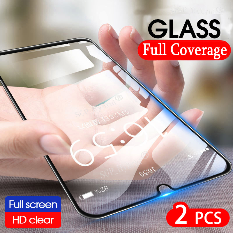 2pcs Tempered Glass For LG Q60 K40 K50 Screen Protector Full Cover Protective Film On LG K10 V50 V40 V30 V20 G8 G7 G6 Q 60 Glass