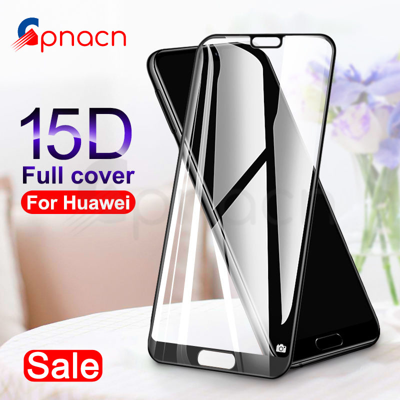 9D Protective Glass On The For Huawei P20 Pro P10 P9 Lite Plus Huawei P Smart 2019 Screen Protector Tempered Glass Film Case