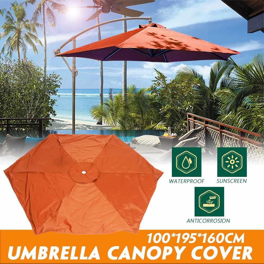 Garden Waterproof  Umbrella Canopy Cover Hexagon Dustproof Cantilever Outdoor Garden Banana Umbrella Shield Brown Sun Shelter