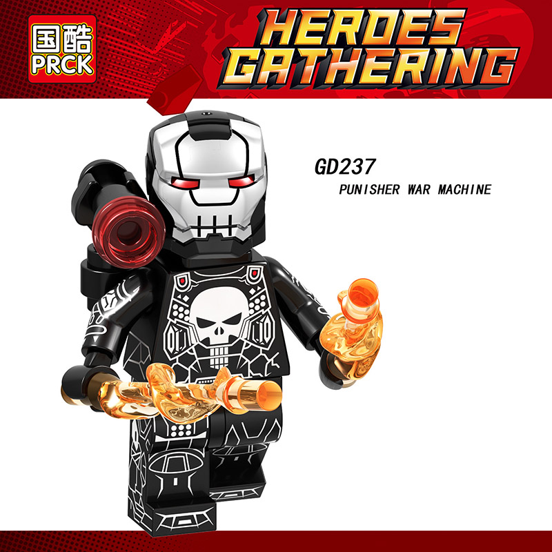 Single Sale LegoINGlys Super Heroes Avengers Figure Iron Man Punisher War Machine Mk50 Mk41 Blocks Action Toys Kids Gifts GD237