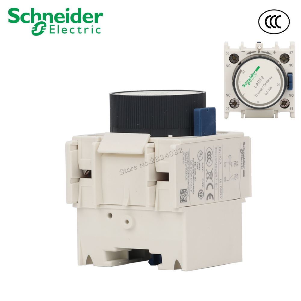 Schneider LADT4 Auxillary Time Delay Contact Block 1NC 1NO 10-180s