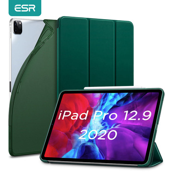 ESR for iPad Pro 12.9 Case 2020 Soft TPU Cover for iPad Pro 2020 11 inch 12.9 Case Auto Wake Sleep Smart Case Back Cover Funda case for ipad pro 9 7 inch esr slim fit shell case [soft tpu bumper corner] back cover for ipad pro 9 7 inches 2016 release