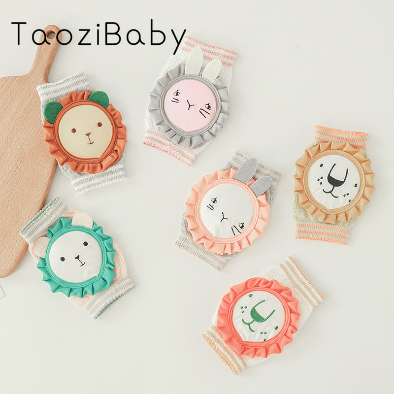 Children's Knee Protection Spring And Summer Mesh Cartoon Sock Newborn Infant Crawling Toddler Baby Knee Protection