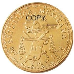 Мексиканская позолоченная копировальная монета peeo 1916, 60 шт.