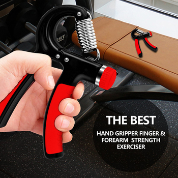 WorthWhile 5-60Kg Gym Fitness Hand Grip Men Adjustable Finger Heavy Exerciser Strength for Muscle Recovery Hand Gripper Trainer 2
