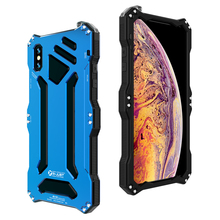 Métal alliage daluminium Silicone double couche de protection robuste téléphone étui pour iphone XS Max XR X 6 6S 7 8 Plus 5 5S 5C SE couverture