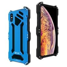 Metalowa aluminiowa silikonowa podwójna warstwa ochronna Heavy Duty etui na telefony dla iPhone XS Max XR X 6 6S 7 8 Plus 5 5S 5C SE okładka