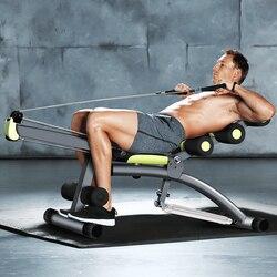 Многофункциональная скамейка для спортзала, складные гантели и гребная машина для дома, брюшного фитнеса