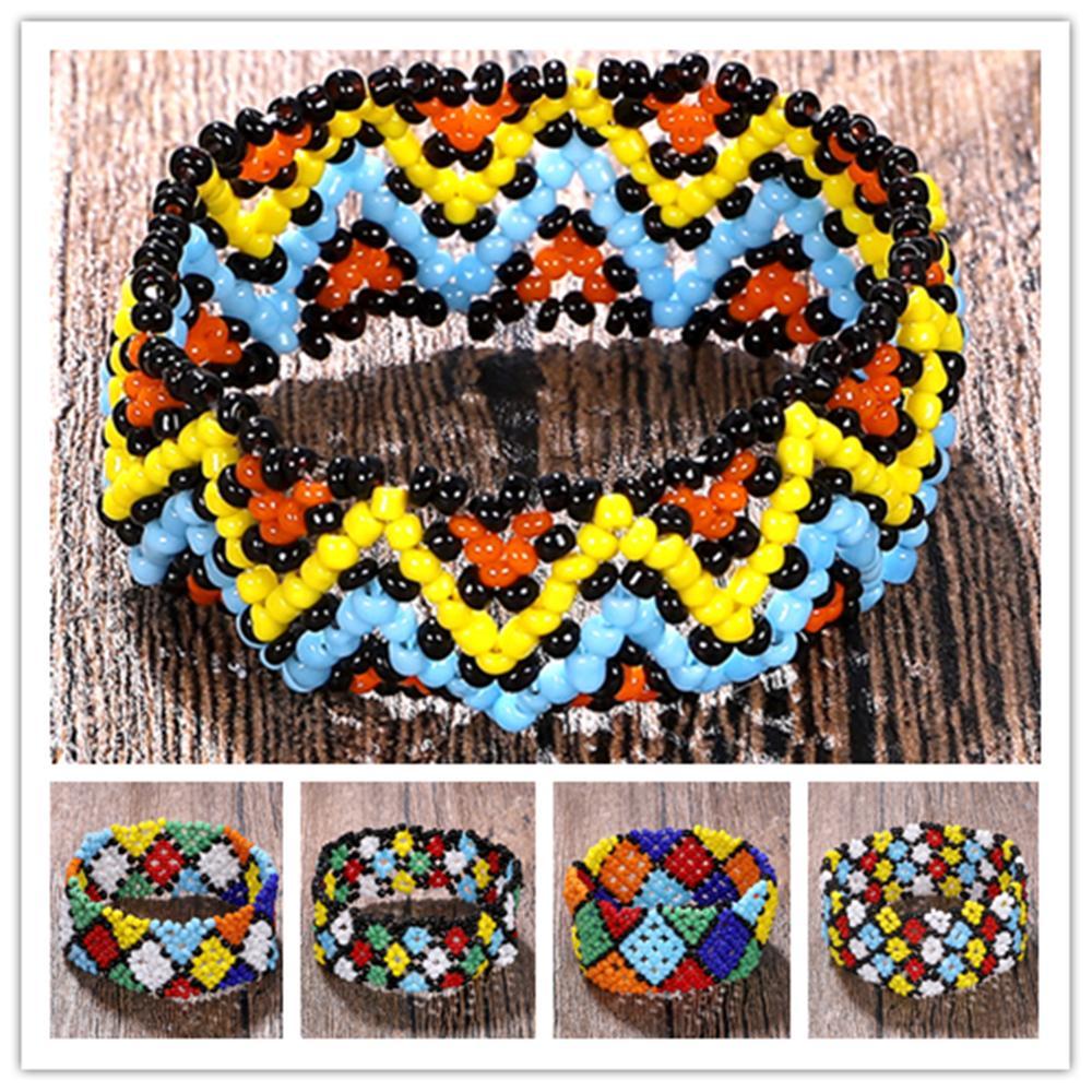 Boho Unisex Acrylic Beaded Bracelet Ethnic Colorful Strand Bracelets New Fashion Bracelet Bangles Jewelry Travel Wholesale in Strand Bracelets from Jewelry Accessories