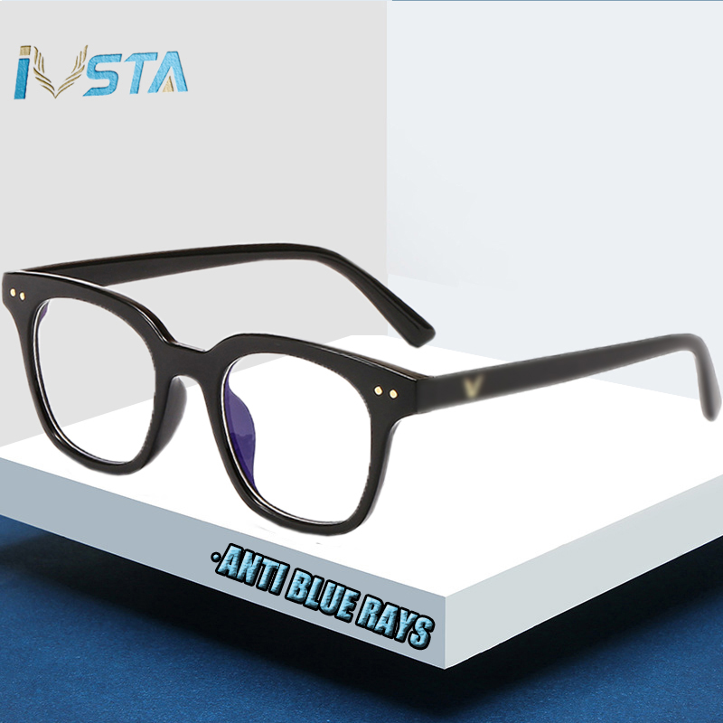 IVSTA Computer Glasses Gaming Anti Blue Light Block Clear Myopia Steampunk Oversize Big Korean Brand Designer South Side GM Logo