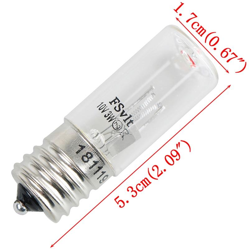 1Pcs Germicidal Bulb Ultraviolet Quartz Light E17 10V UV 3W Ozone Sterilization Clean Lamp