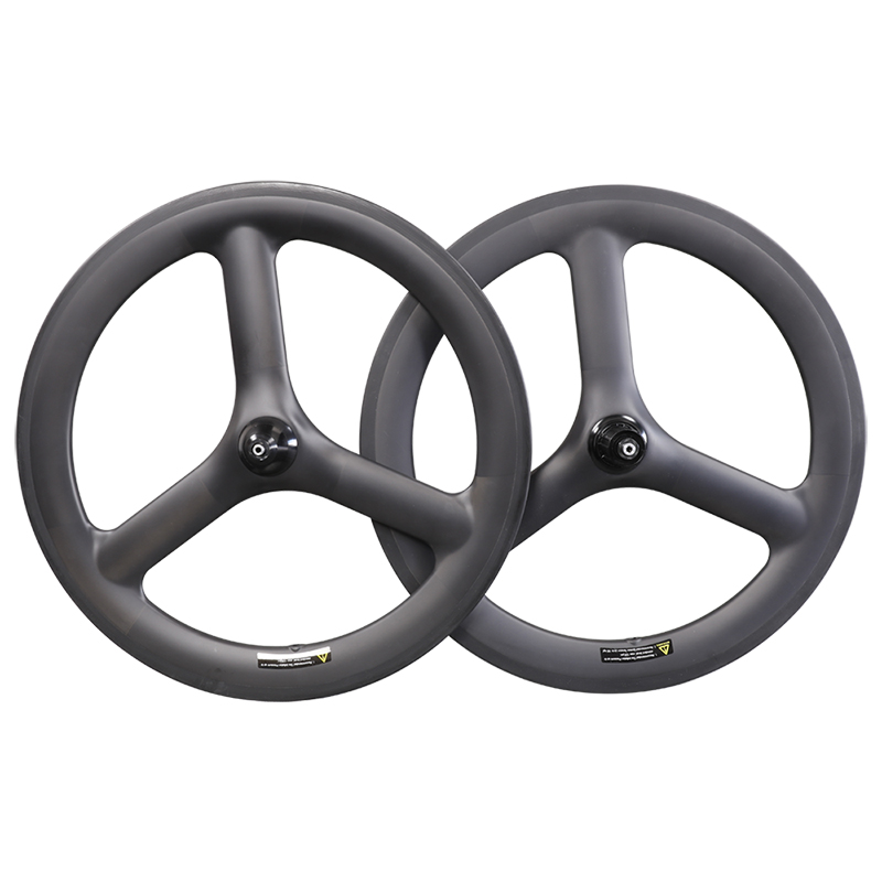 20inch <font><b>BMX</b></font> Bicycle <font><b>Wheel</b></font> 25mm 451 Carbon tri spoke wheelset for kid balance bicycle folding bike image
