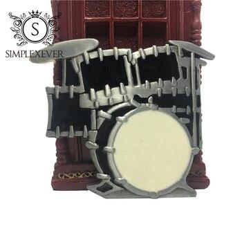 Punk Rock Style Belts for Men with Music Series Drum Belt Buckle Metal Belt Buckle with Belt Drop Shipping onemix music series autumn