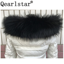 2020ใหม่100% จริงRaccoon FurสำหรับParkasผู้หญิงแท้ผู้ชายขนาดใหญ่ขนสีดำผ้าพันคอเสื้อกระโปรงผ้าพันคอ70ซม.75ซม.Zxx88
