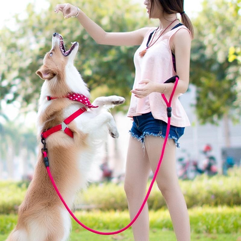 No-Pull Dog Harness dog leash Nylon Pet Leash for dog & cat Adjustable Flannel Padded Small & large dog harness vest