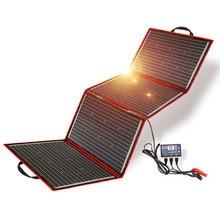 Dokio 200w (50w * 4) painel solar 12v/18v flexível foldble painel solar usb portátil célula solar kit para barcos/fora-porta de acampamento