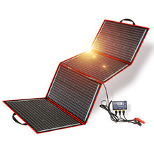 Dokio 200W (50W*4) Solar Panel 12V/18V Flexible Foldble Solar Panel usb Portable Solar Cell Kit For Boats/Out-door Camping
