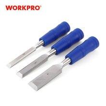 WORKPRO 3 adet keski seti oyma ahşap keski temperli çelik bıçağı ahşap