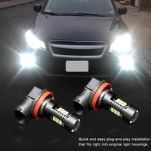 цена на 2Pcs H8 H11 Led HB4 9006 HB3 9005 Fog Lights Bulb 3030SMD 1200LM 6000K White Car Driving Running Lamp Auto Leds Light 12V 24V